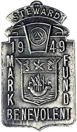 1949. Знак STEWARD Mark Benevolent Fund.