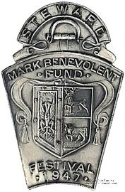 1947. Знак STEWARD Mark Benevolent Fund.