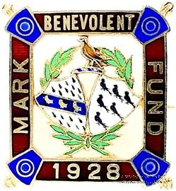 1928. Знак STEWARD Mark Benevolent Fund.