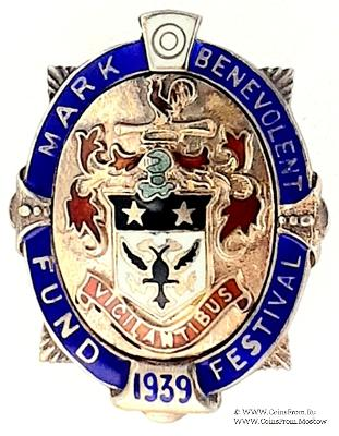 1939. Знак STEWARD Mark Benevolent Fund.