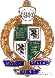 1940. Знак STEWARD Mark Benevolent Fund.